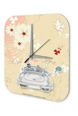 Anniversary Party Fun Wall Clock  Wedding just married bridal bouquet Acryl Acry
