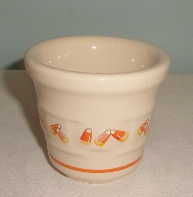 Longaberger Pottery Candy Corn votive holder 2 1/2""