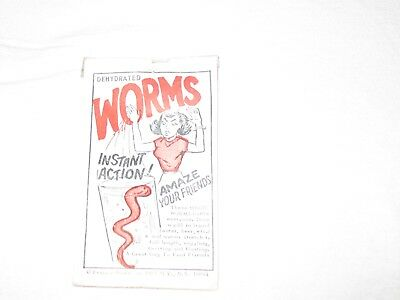 Vintage 1967 Franco American Dehydrated Worms premium toy