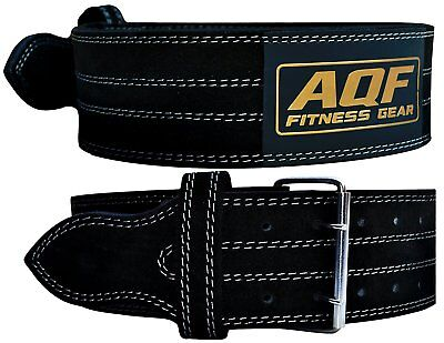 """AQF Weight Lifting Nubuck Leather Power Belt Back Support Strap Gym Training 28"""""""