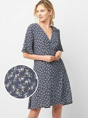acf19d01c1 GAP FLORAL BUTTON-FRONT Skater Dress