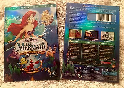 The Little Mermaid (DVD, 2006, 2-Disc Set, Platinum Edition) Free US Shipping