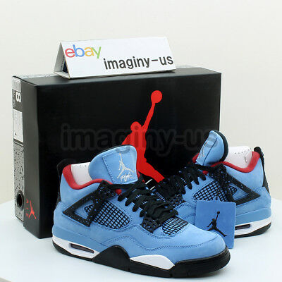 Nike 308497-406 Air Jordan 4 Retro Men's Shoe University Blue In Hand