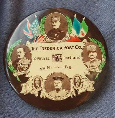 Celluloid Advertising Pocket Mirror Frederick Post Portland Oregon Eng. Supplies