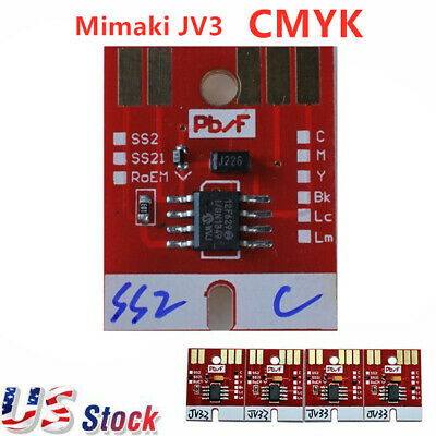 US Stock Mimaki Chips Permanent for Mimaki JV3 SS2 Cartridge 4 colors CMYK