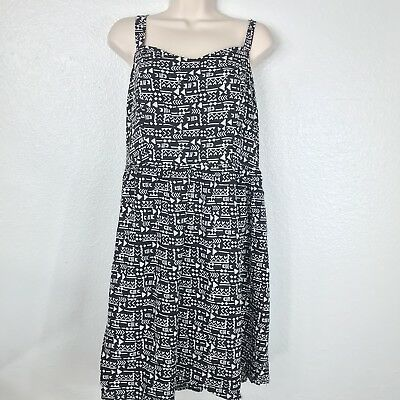 b4c057d709be Forever 21 PLUS Womens PLUS SIZE 2X RACERBACK DRESS BLACK WHITE GEOMETRIC  GUC