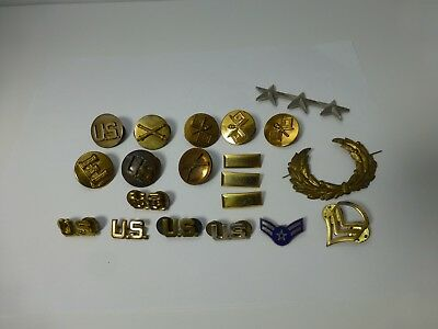 Lot of Vintage US Army / Military Pins Collar Discs