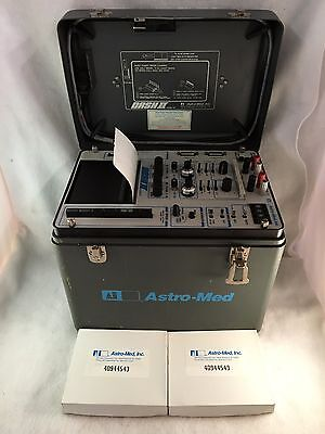 Astro-Med Dash II Model MT Portable Field Data Recorder with Chart Paper