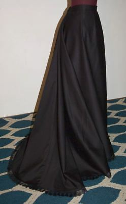"""1892 Umbrella Skirt /Victorian/Steampunk/trained Skirt / 32"""" W Made in the U.S.A"""
