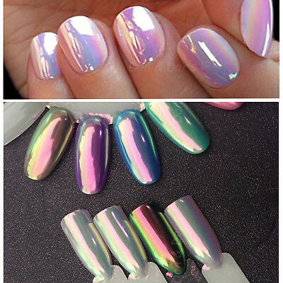 Aurora Mermaid Unicorn Powder Ab Chrome Effect Nail holographic Rainbow Shine