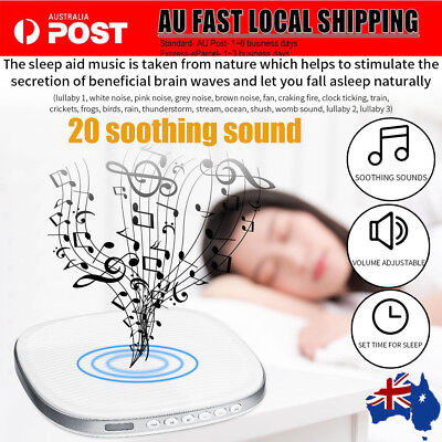 White Noise Sound Therapy Machine 20 Sounds Sleep Timer Baby Kids Adults AU