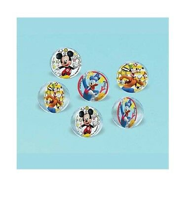 Party Supplies Birthday Decorations Disney Mickey Mouse Favor Bouncy Balls Pk 6