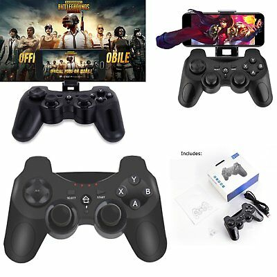 For PUBG Mobile BT Wireless Gamepad Remote Game Controller Joystick S100 + Cable
