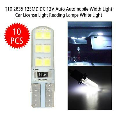 10Pcs T10 2835 LED Canbus Super Bright Car Width Lights Lamps Bulbs White T4B9
