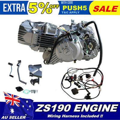 New Zongshen 190Cc Engine E-Start Kick 4St Manual Pit Dirt Bike Postie Z50