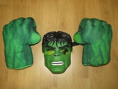 Marvel Incredible Hulk Smash Fists / Hands Gloves With Sound's & Light Up Mask
