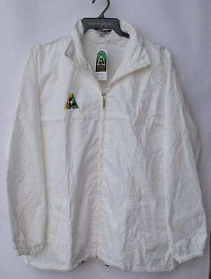 Lawn Bowls Wet Weather Official Rain Jacket BA Logo WHITE 30% OFF  5XL only
