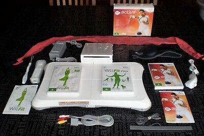 Nintendo Wii Console and Fitness Games Bundle + Balance Board