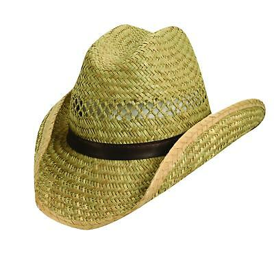New Dorfman Pacific Rush Straw 3.5 Inch Shapeable Brim Western Cowboy Hat 63829d8b7