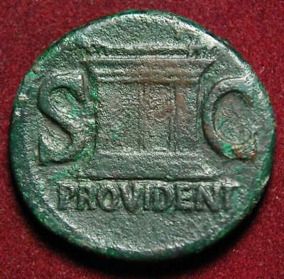 Divus Augustus AE as (issued by Tiberius), PROVIDENT S C, Rome 22-30AD - RIC 81