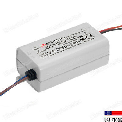 MEAN WELL APC-12-700 12W Switching Power Supply 700mA LED Driver UL Certified
