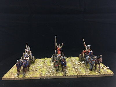28mm Ancient WAB DPS Painted Gallic & Celtic Chariots GH852