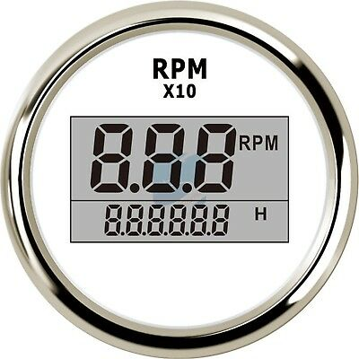 Auto Truck Digital Tachometer Outboard Engine Motorcycle Tacho RPM Meter Gauge