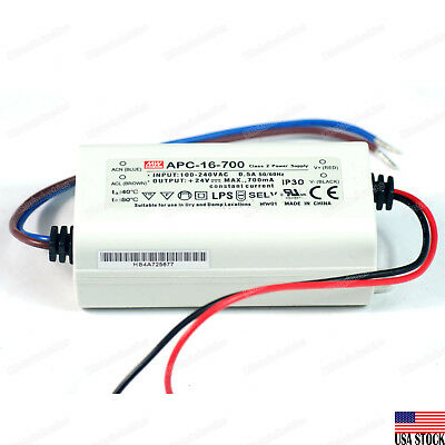 MEAN WELL APC-16-700 16W Switching Power Supply 700mA LED Driver UL Certified