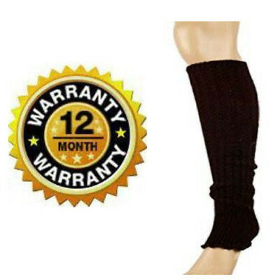 Long Leg Warmers For Women Winter Warm Brown Thick Cable Knitted Feet Boot Socks