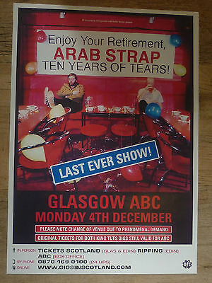 Arab Strap - Glasgow dec.2006 tour concert gig poster