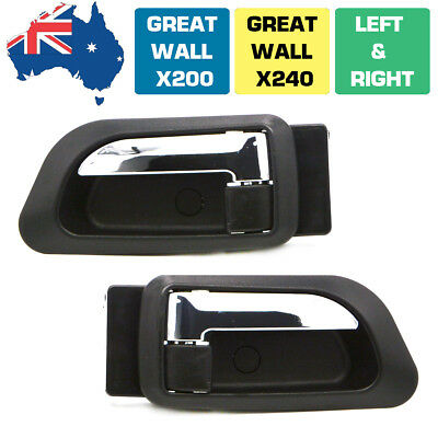 1 Pair Great Wall X200 X240 Front Left Right Inner Door Handle Chrome