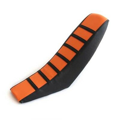 Universal Dirt Bike Off-road Motorcycle Seat Cover Orange Soft Rubber Seat Cover