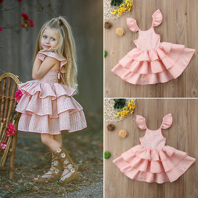 Baby Girl Dress Lace Tutu Tulle Floral Baby Party Gown Formal Dresses Sundress