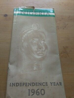Nigeria independence year 1960 map old antique