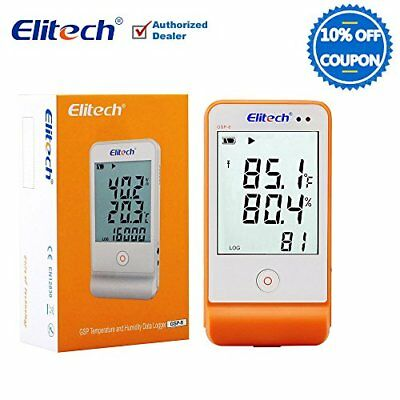 Elitech GSP6 Temperature and Humidity Data Logger Recorder Monitor Temp Data Log