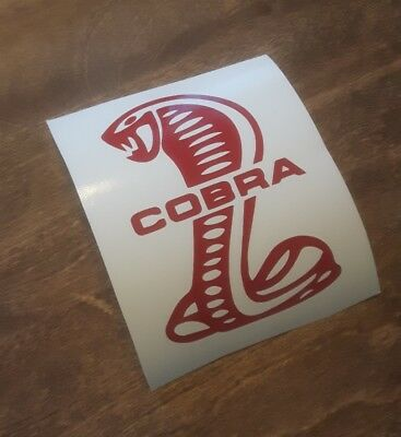 Cobra Red sticker decal Mustang Ford Shelby muscle classic retro vintage race