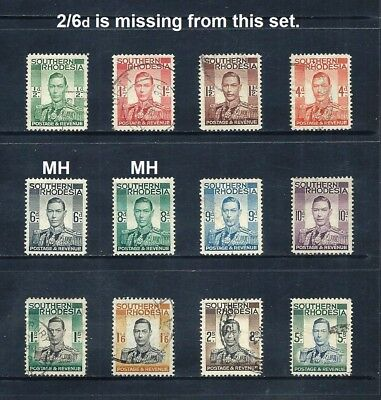 SOUTHERN RHODESIA _ 1937+ 'KGVI' 11 _ mh-used ____(536)