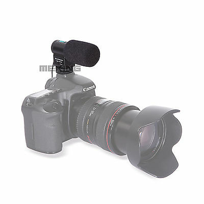 MIC109 Stereo Microphone for Camera Canon Nikon 7D 5DII 550D 60D D7000 D90 D5