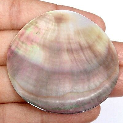 Nice 52x52 mm Excellent Round ABALONE SHELL Loose Gemstone 35.50 Carats S-33537