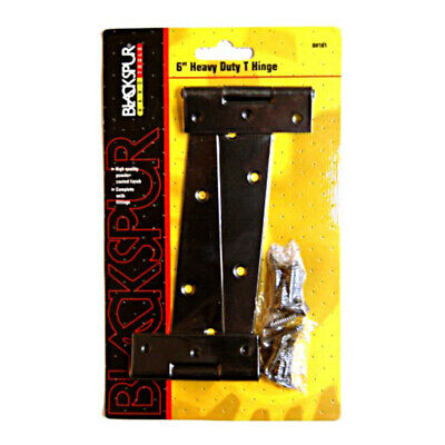 """Pair of Heavy Duty T Hinges 150mm / 6"""" For Shed, Gate, Garden, Door Strap Hinges"""