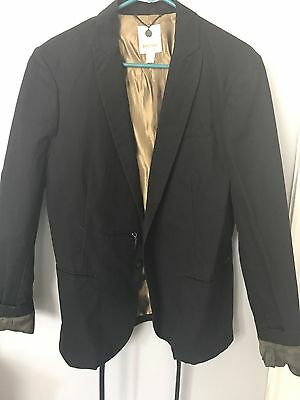 Diesel Black Blazer Jacket Large Ultra rare thavar $498
