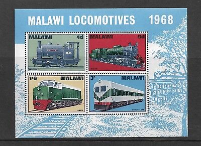Malawi Locomotives 1968 Miniature Sheet Mnh   My Ref 382