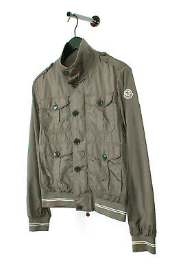 5d5c992a7 AMAZING~$1065 MONCLER HANRIOT' Leather Trim Quilted Down Moto Jacket ...