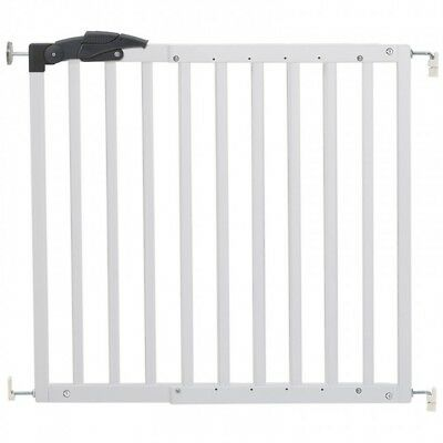 Callowese Mendel Baby Safety Stair Gate 78.5Cm-113.5Cm - White Wood - New