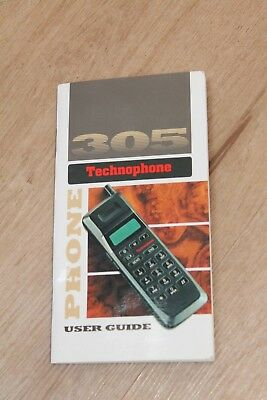 User Guide for Technophone PC 305 - 1992 - Analogue Mobile Phone vintage retro