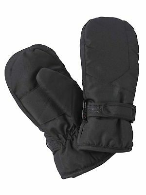 Mambo Boys Thinsulate Lined Basic Winter Ski Mittens - Black