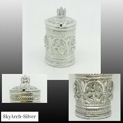 SOLID SILVER Mustard Pot RARE Indian Silver C1900