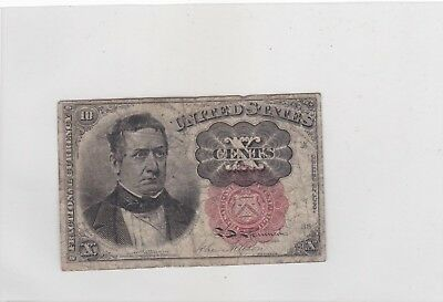 1874 Usa/ Fractional Currency / Banknote/ 4Th Issue/ Meredith