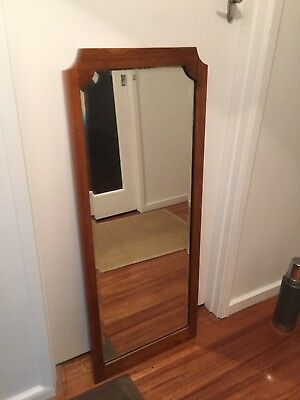 Antique Wall Mirror Bevelled, Beautiful Wood Frame