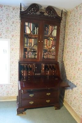 Reproduction Bureau Bookcase Mahogany Antique in Georgian / Victorian Style